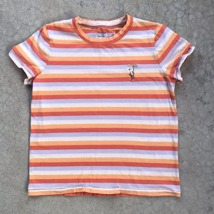 Madewell Striped Daisy Embroidered Northside Shirt